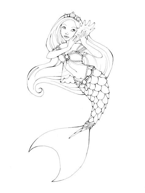 printable mermaid art printable mermaid coloring pages outline coloring sheets