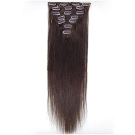 remy hair extensions clip in 32 inch brunet clip in remy hair extensions