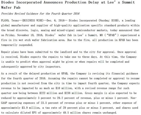 diodes inc linkedin diodes inc lees summit 28 images diodes incorporated announces production delay at s diodes