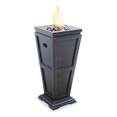 standing pit outdoor pit floor standing column gas fireplace patio