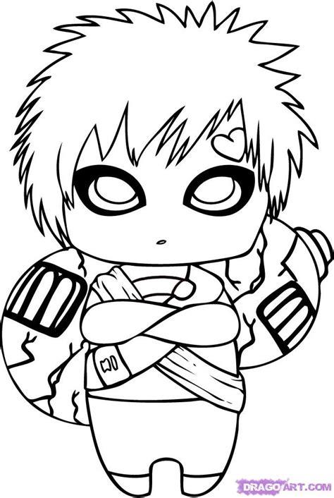 chibi characters coloring pages how to draw chibi gaara shijufasu s blog