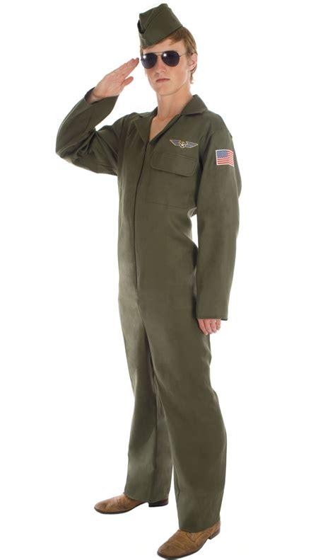 Jumpsuit Armi Army aviator mens pilot jumpsuit fancy dress army top gun costume ebay