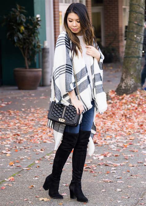 stylish ponchos  fall including    plaid