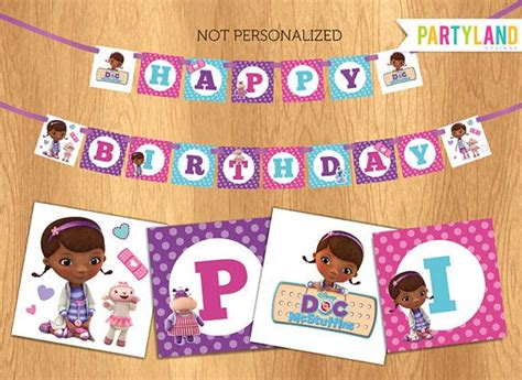 doc mcstuffins printable birthday banner 1000 images about doc mcstuffins party on pinterest doc