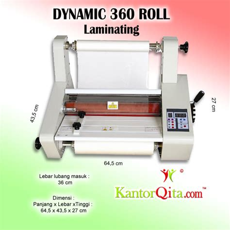 Mesin Laminating Roll 2 Sisi mesin laminating dynamic 360 roll untuk ukuran laminasi