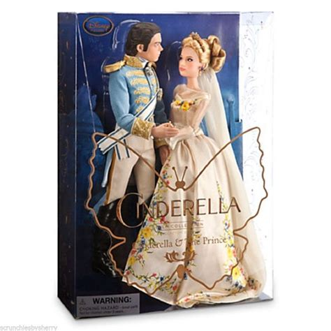film cinderella playing with dolls disney store cinderella and the prince doll set live