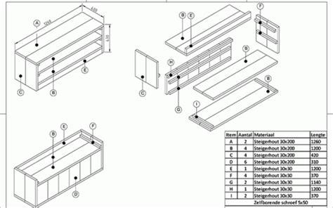 gio ponti lade tv meubel maken vind hier de juiste bouwtekening