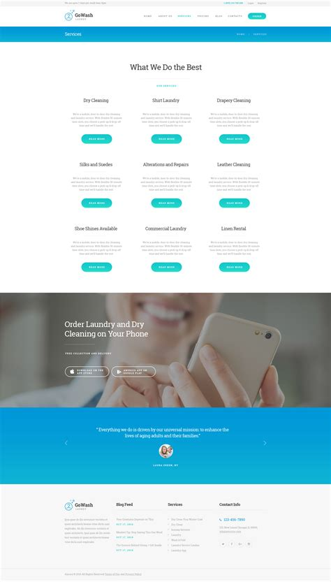 laundry website template gowash cleaning laundry service theme by