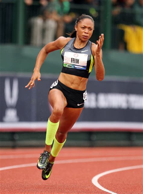 how to style hair for track and field more pics of allyson felix ponytail 18 of 31 allyson