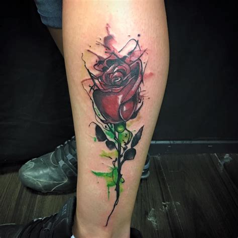 watercolor tattoos rose 63 bright vibrant and stunning dose of water color