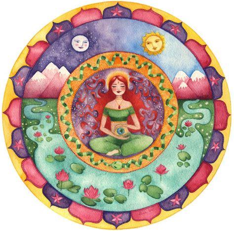 imagenes de mandalas sobre la naturaleza ser conscientes mandalas sol luna y estrellas