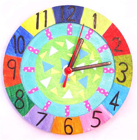 clock craft project wooden clock kit do it yourself working clock decorating kit