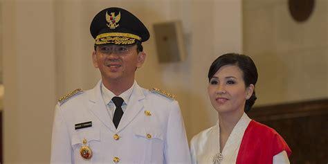 ahok gubernur cantiknya istri ahok saat pelantikan gubernur dki jakarta