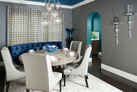 Dining Room Grey Blue 25 And Exquisite Gray Dining Room Ideas