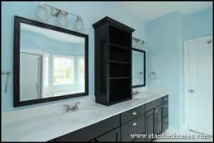 Bathroom Countertop Storage Cabinets Master Bath Storage Cabinet Ideas Design Build Homes In Nc