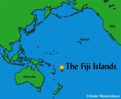 fiji islands map fiji geographischen karte