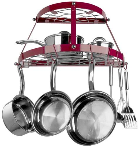 Hanging Pan Holder Retro Pot And Pan Hanging Rack Holder Pots Dining Cookware