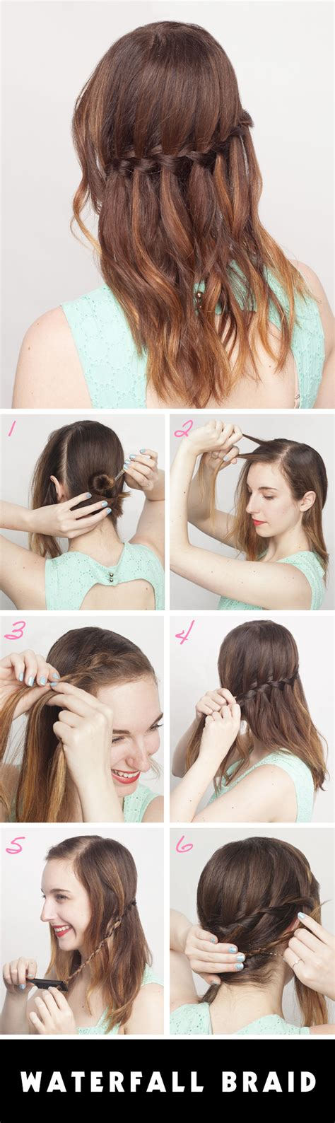 how to waterfall braid step by step how to do a waterfall braid on yourself stylecaster