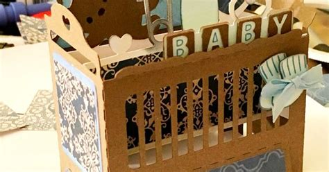 Hospital Crib Card Template by Baby Card For A Shower Using The Baby Crib Box Template