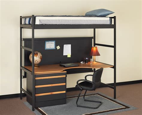 Loft Bed Desk Combo Furniture Homesfeed Bed And Desk
