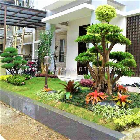 desain  model taman minimalis depan rumah modern