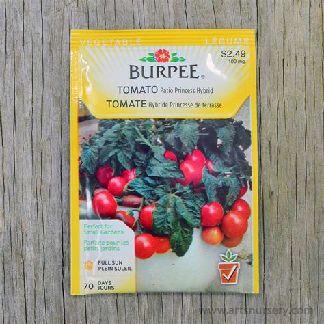patio princess hybrid tomato seeds burpee