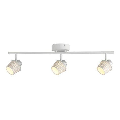 Led Track Light Fixture Hton Bay 3 Light Led Convertible Basket Glass Shade Directional Track Lighting Fixture