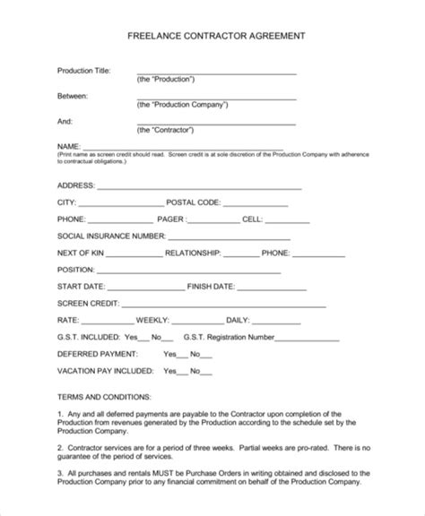 Contract Letter Format For Freelancer Sle Contractor Agreements 9 Independent Contractor Agreement Form Sles Free Sle