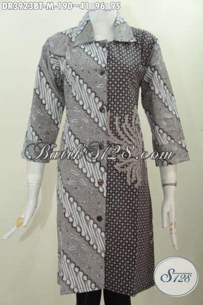 Baju India Kw 95 baju dress klasik dua motif pakaian batik kerah lancip model resmi busana elegan buat kondangan