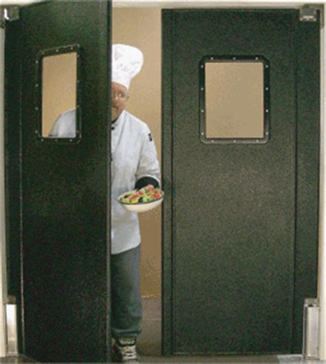 commercial kitchen double swing door lightweight restaurant kitchen traffic doors restaurant