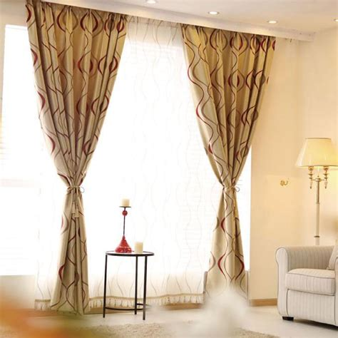 living room curtains in red with polyester loading zoom coffee and red geometric polyester insulated curtains