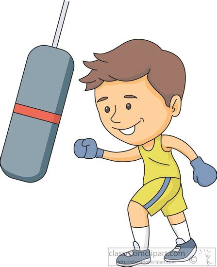boxing clipart boxing clipart punching a boxing bag clipart 6162 2
