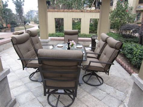 Patio Furniture Dining Sets Clearance Patio Sets Clearance 7pc Ravello Outdoor Patio Dining Set Swivel Rocking Promo Offer