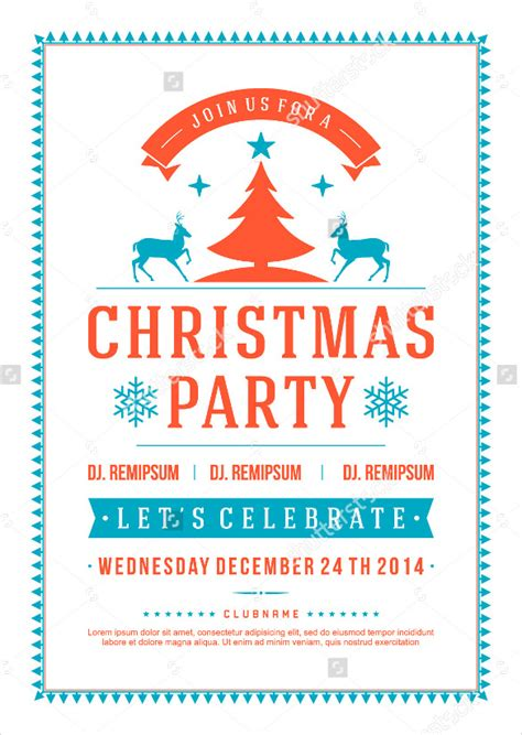 search results for printable christmas party flyer