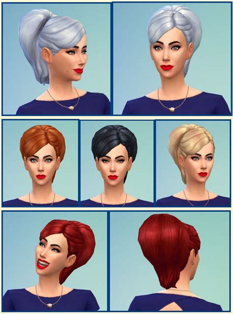 bun hairstyles games big bun hair at birksches sims blog via sims 4 updates