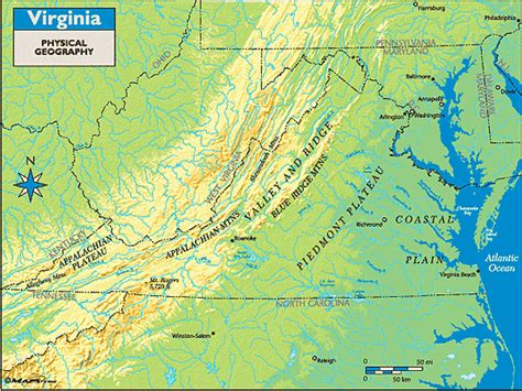 physical map of virginia virginia physical geography map by maps from maps