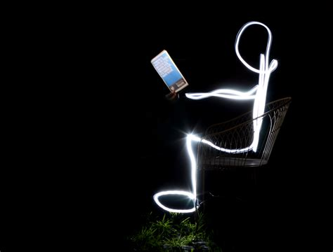 File Guy Light Painting With A Book Jpg Picture With Lights