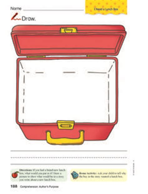 lunch box planner app lunch box drawing pre k 1st grade worksheet lesson planet