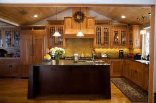 arts and crafts style kitchen cabinets craftsman style kitchen cabinets arts amp crafts cherry