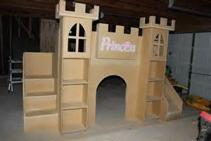 Plans To Build A Loft Bed With Slide by Ana White Princess Castle Bed Diy Projects