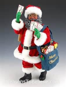 black mailman santa santa claus figurines and hand