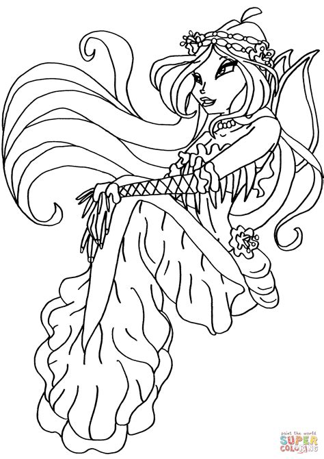 winx club coloring pages winx club mermaid flora coloring page free printable
