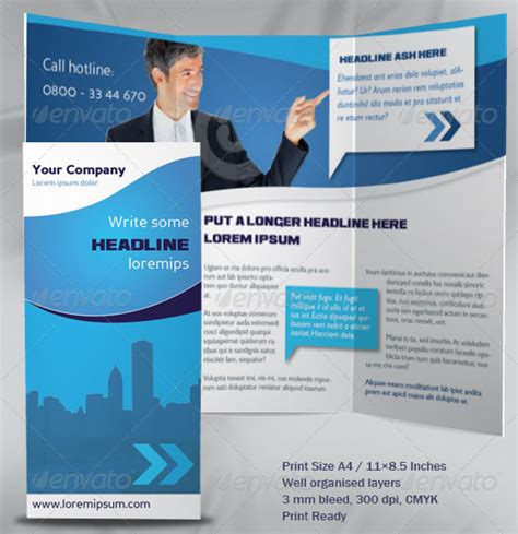 company brochure template 8 best images of sle business brochures business