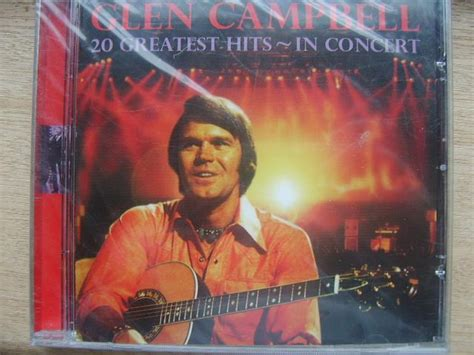 cd glen cambell 20 greatest hits in concert the nostalgia store retro shop is open