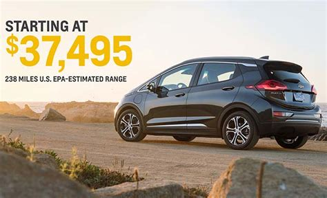chevrolet bolt ev priced at 37 495 before tax credit