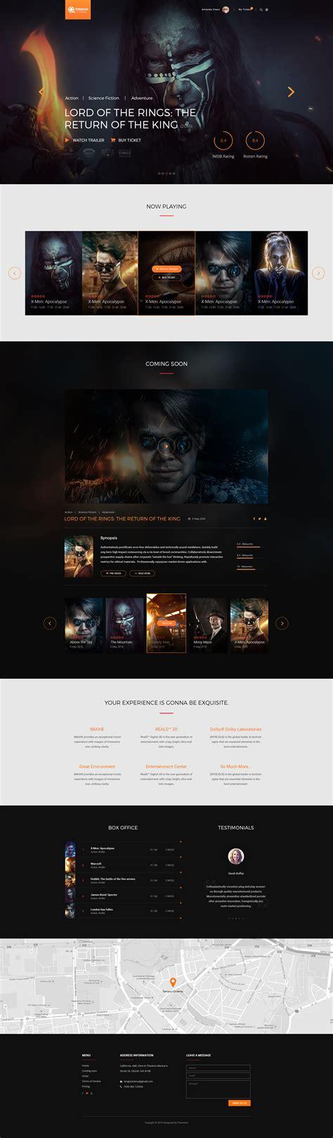 tenguu cinema movie theatre html template by themeton
