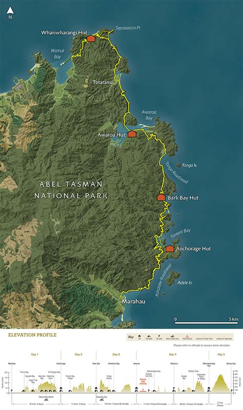 Great Walk Sections by Abel Tasman Coastal Track New Zealand Walks