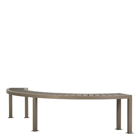 curved backless bench hospitality janus et cie