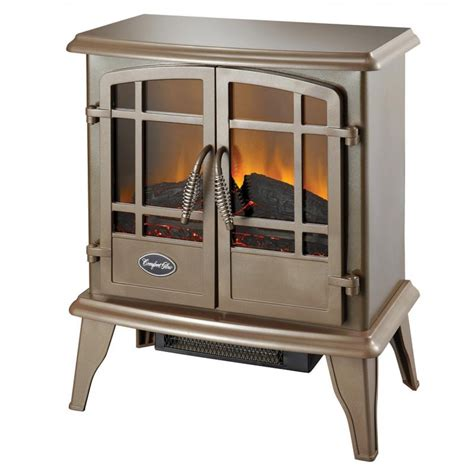 Electric Wood Heater The Keystone Es5132 Bronze Electric Wood Stove