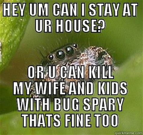 Spider In House Meme - misunderstood spider meme www pixshark com images